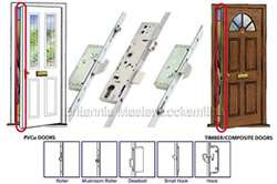 uPVC  Timber Composite doors Multi Point Locking System